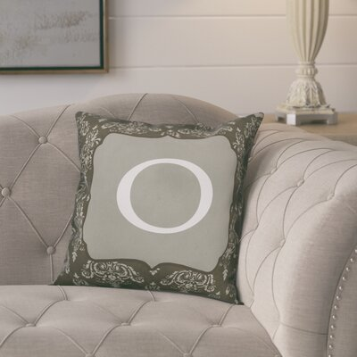 Krahn Damask�Monogram Throw Pillow Letter: O