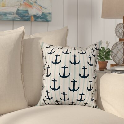 Dimauro Nautical Anchors Throw Pillow