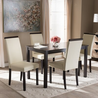 Quiroz Upholstered 5-Piece Dining Set