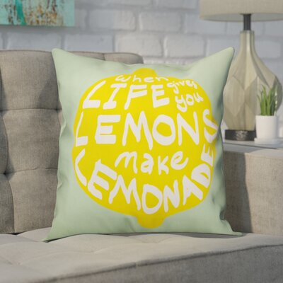 Craney Make Lemonade Out of Lemons Throw Pillow