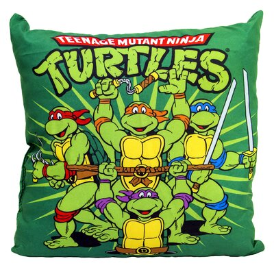 Nickelodeon Teenage Mutant Ninja Turtles Retro 10 Square Throw Pillow