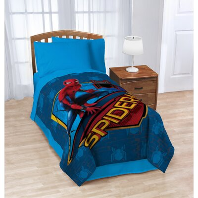 Marvel Spiderman Wall Crawler Plush Twin Blanket JF28844