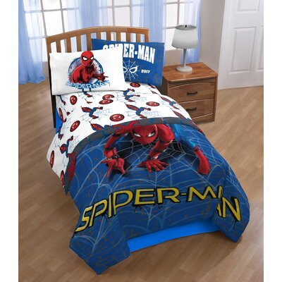 Marvel Spiderman Wall Crawler Twin Polyester 3 Piece Sheet Set JF28838