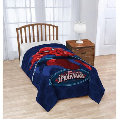 Marvel Spiderman Astonish Plush Twin Blanket JF29413