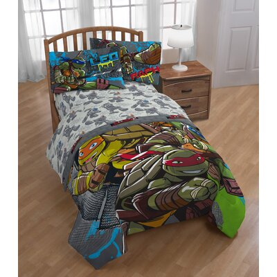 Nickelodeon Teenage Mutant Ninja Turtles Cross Hatching Twin 3 Piece Sheet Set