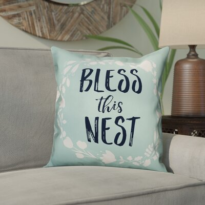 Ormond Bless This Nest Throw Pillow
