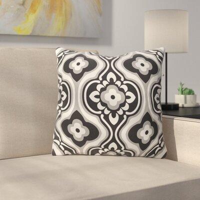 Murrin Cotton Throw Pillow Color: Black/ White