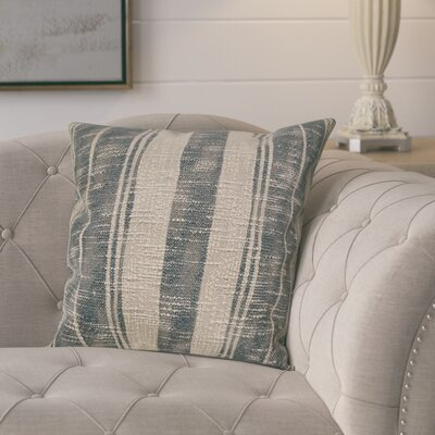 Rawlins Square Stripe Cotton Throw Pillow Color: Charcoal