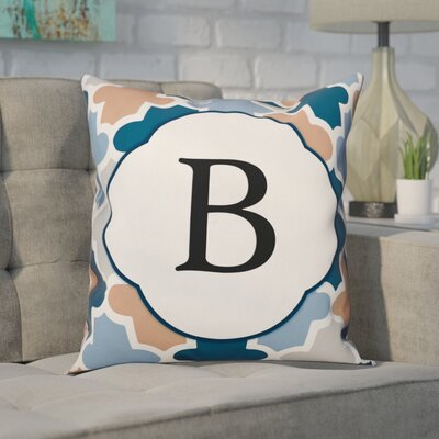 Comstock Monogram Throw Pillow Letter: B