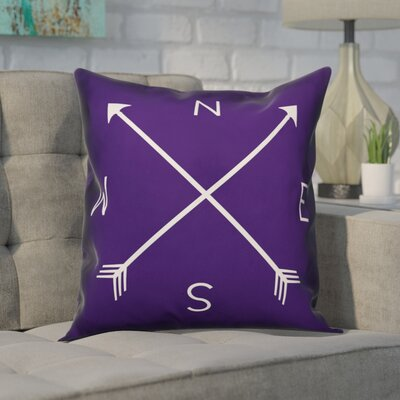 Crampton Compass Throw Pillow