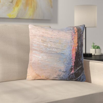 Coral and Blue by Carol Schiff Throw Pillow Size: 16 H x 16 W x 3 D