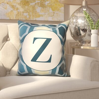 Hartig Hexagon Monogram Pillow Letter: Z