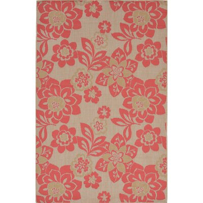 Fawkes Garden Sunset Rust Indoor/Outdoor Area Rug Rug Size: Rectangle 75 x 95