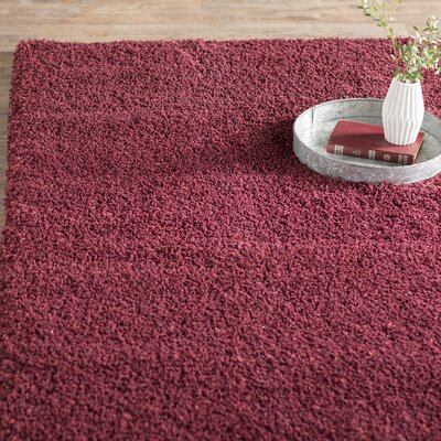 Aranda Flokati Maroon Area Rug Rug Size: Rectangle 8 x 10