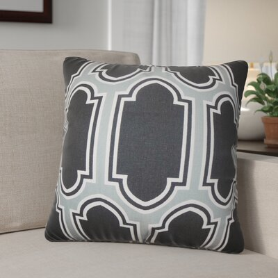 Boniakowski Geometric Cotton Throw Pillow Color: Gray