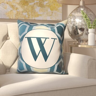 Hartig Hexagon Monogram Pillow Letter: W