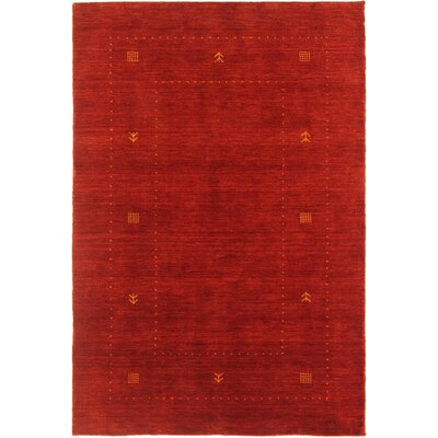 Pleasant Plains One-of-a-Kind Gabeh Hand-Woven Red Area Rug