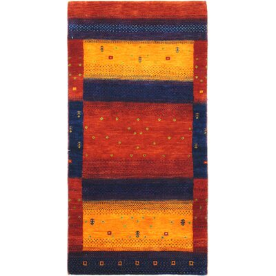 Plunkett One-of-a-Kind Gabeh Hand-Woven Red/Yellow Area Rug