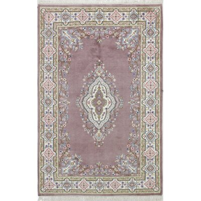 Plumley One-of-a-Kind Kerman Hand-Woven Rosy Brown Area Rug