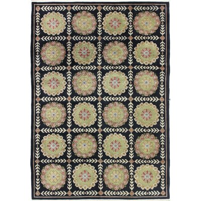 Plourde One-of-a-Kind Indo Bookey Hand-Woven Black/White Area Rug