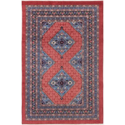 Plowman One-of-a-Kind Sarab Hand-Woven Red/Navy Area Rug