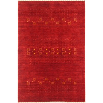 Pinkham One-of-a-Kind Gabeh Hand-Woven Red Area Rug