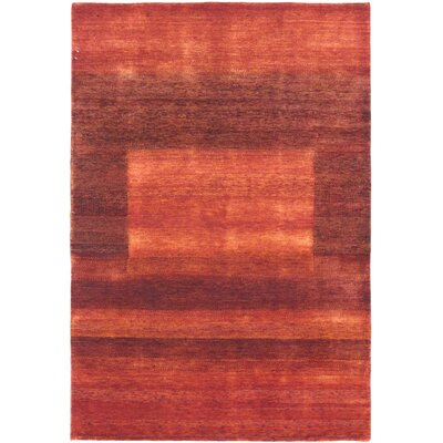 Mondragon One-of-a-Kind Gabeh Hand-Woven Red Area Rug