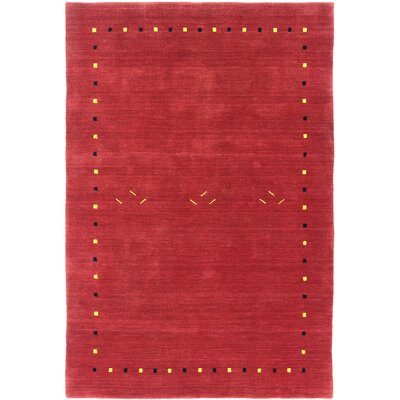 Pinheiro One-of-a-Kind Gabeh Hand-Woven Red Area Rug