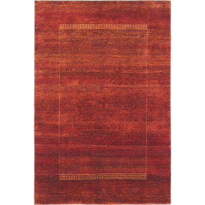 Monteleone One-of-a-Kind Gabeh Hand-Woven Red Area Rug