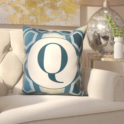 Hartig Hexagon Monogram Pillow Letter: Q
