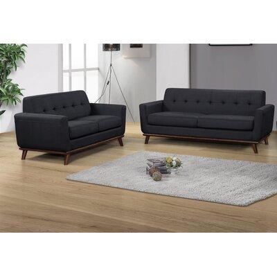 Cerna 2 Piece Living Room Set Color: Charcoal
