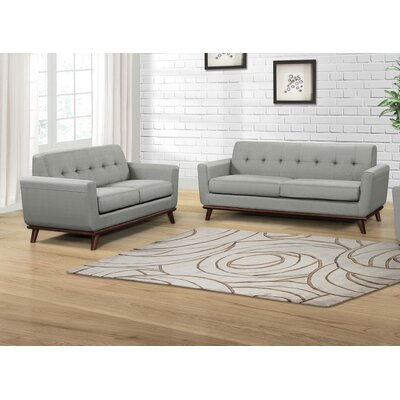 Cerna 2 Piece Living Room Set Color: Dove Gray