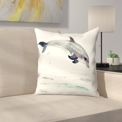 Dolphin Throw Pillow Size: 16 x 16