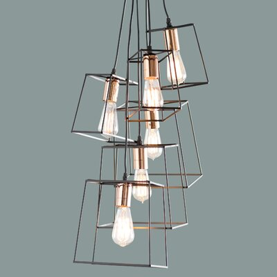Alwin 6-Light Cluster Pendant