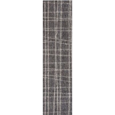 Gritton Plaid Hand-Woven Wool Gray Area Rug Rug Size: Runner 2 X 75
