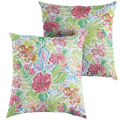 Marie Indoor/Outdoor Throw Pillow Size: 18 x 18