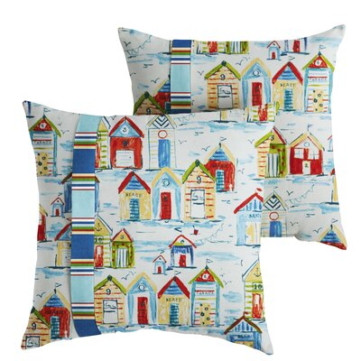 Eccles Indoor/Outdoor Throw Pillow Size: 18 x 18