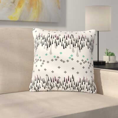 Zara Martina Mansen A Drop of Memphis Outdoor Throw Pillow Color: White/Black, Size: 16 H x 16 W x 5 D