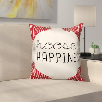 Oquinn Choose Happiness�Quote Arrows Throw Pillow