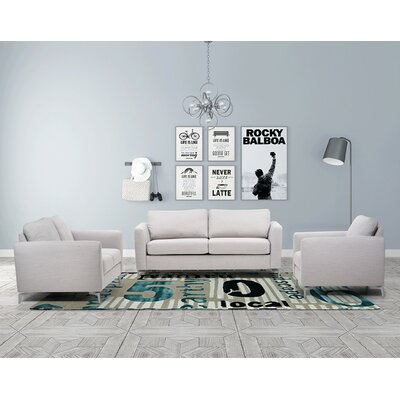 Scannell 3 Piece Living Room Set