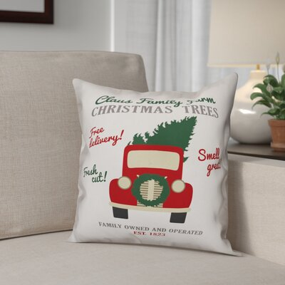 Claus Family Throw Pillow Type: Pillow Cover