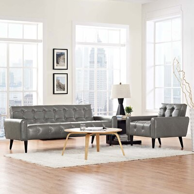 Mathieson 2 Piece Living Room Set Color: Gray