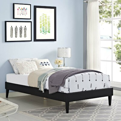Dignan Upholstered Platform Bed Color: Black, Size: Full/Double
