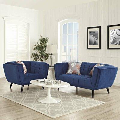 Vonda 2 Piece Living Room Set Color: Navy