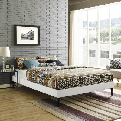 Dignan Upholstered Platform Bed Color: White, Size: Full/Double