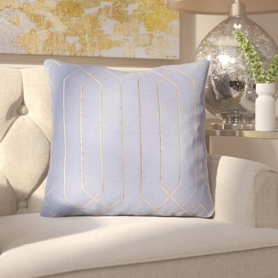 Kaivhon Traditional Linen Throw Pillow Size: 20 H x 20 W x 4D, Color: Sky Blue