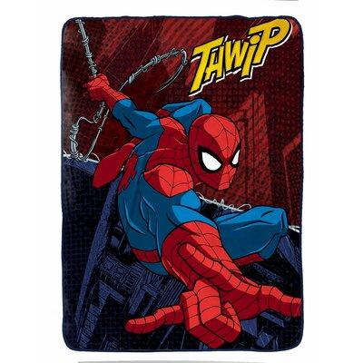 Marvel Spiderman Burst Plush Twin Blanket JF27867