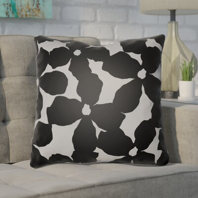 Gibson Throw Pillow Size: 20 H x 20 W x 4 D, Color: Black/Grey
