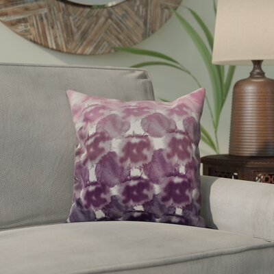 Viet Square Indoor/Outdoor Throw Pillow Size: 18 H x 18 W, Color: Purple
