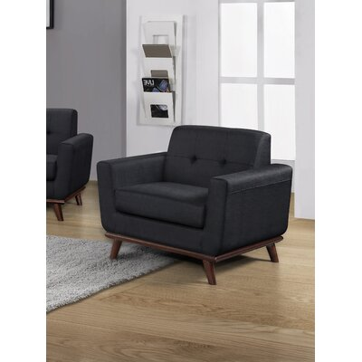 Celaya Upholstered Armchair Upholstery: Charcoal